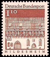 1,10 DM Briefmarke: Deutsche Bauwerke