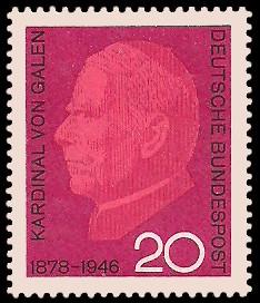 20 Pf Briefmarke: 20. Todestag Clemens August Graf von Galen