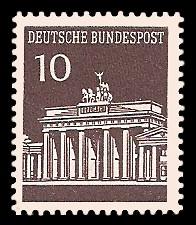 10 Pf Briefmarke: Brandenburger Tor