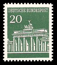 20 Pf Briefmarke: Brandenburger Tor
