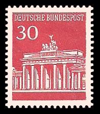 30 Pf Briefmarke: Brandenburger Tor