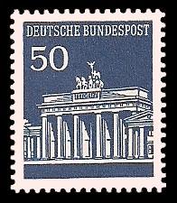 50 Pf Briefmarke: Brandenburger Tor