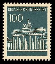 100 Pf Briefmarke: Brandenburger Tor
