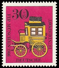30 + 15 Pf Briefmarke: FIP München Kongreß des Internationalen Philatelistenverbandes