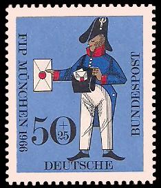 50 + 25 Pf Briefmarke: FIP München Kongreß des Internationalen Philatelistenverbandes