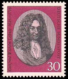 30 Pf Briefmarke: 250. Todestag Gottfried Wilhelm Leibniz