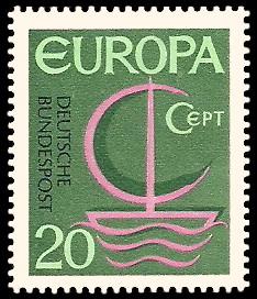 20 Pf Briefmarke: Europamarke 1966