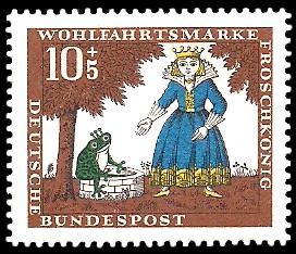 10 + 5 Pf Briefmarke: Wohlfahrtsmarke 1966, Froschkönig