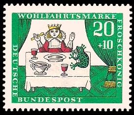 20 + 10 Pf Briefmarke: Wohlfahrtsmarke 1966, Froschkönig