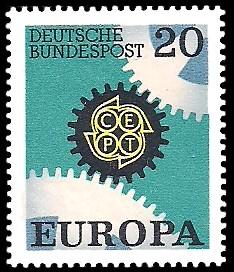 20 Pf Briefmarke: Europamarke 1967