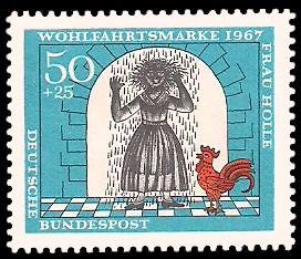 50 + 25 Pf Briefmarke: Wohlfahrtsmarke 1967, Frau Holle