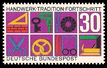 30 Pf Briefmarke: Handwerk Tradition Fortschritt