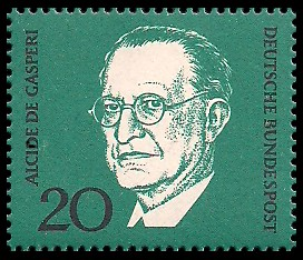 20 Pf Briefmarke: 1. Todestag Konrad Adenauer