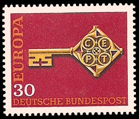 30 Pf Briefmarke: Europamarke 1968