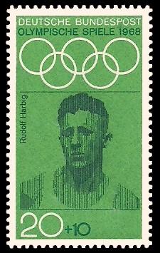 20 + 10 Pf Briefmarke: Olympische Spiele 1968