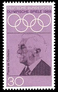 30 Pf Briefmarke: Olympische Spiele 1968