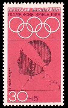 30 + 15 Pf Briefmarke: Olympische Spiele 1968