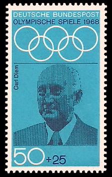 50 + 25 Pf Briefmarke: Olympische Spiele 1968