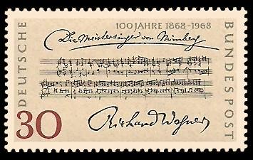 30 Pf Briefmarke: 100 Jahre Die Meistersinger von Nürnberg