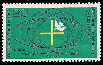 20 Pf Briefmarke: 82. Deutscher Katholikentag in Essen