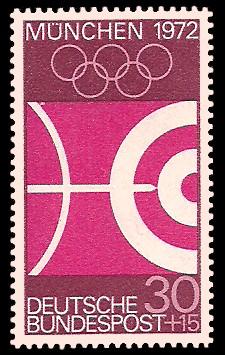 30 + 15 Pf Briefmarke: Olympische Spiele in München 1972
