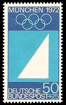 50 + 25 Pf Briefmarke: Olympische Spiele in München 1972