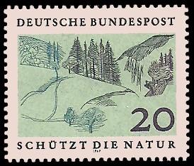 20 Pf Briefmarke: Schützt die Natur