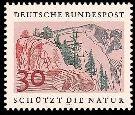 30 Pf Briefmarke: Schützt die Natur