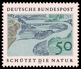 50 Pf Briefmarke: Schützt die Natur