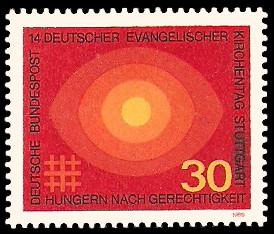 30 Pf Briefmarke: 14. Deutscher Evangelischer Kirchentag Stuttgart