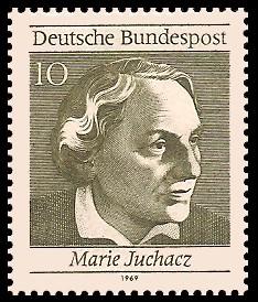 10 Pf Briefmarke: 50 Jahre Frauenwahlrecht