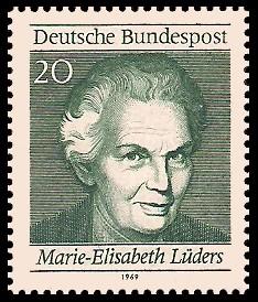 20 Pf Briefmarke: 50 Jahre Frauenwahlrecht