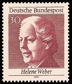 30 Pf Briefmarke: 50 Jahre Frauenwahlrecht
