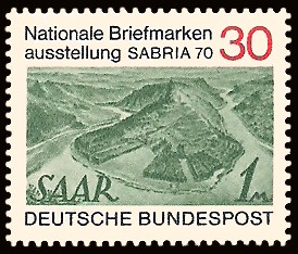 30 Pf Briefmarke: Nationale Briefmarkenausstellung Sabria 70