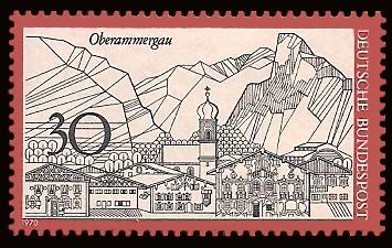 30 Pf Briefmarke: Oberammergau