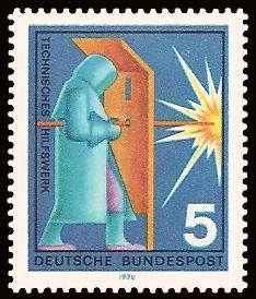 5 Pf Briefmarke: Hilfsdienste