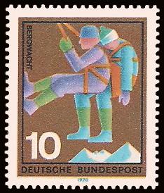 10 Pf Briefmarke: Hilfsdienste