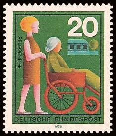 20 Pf Briefmarke: Hilfsdienste