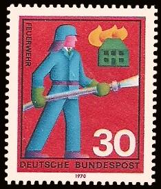 30 Pf Briefmarke: Hilfsdienste