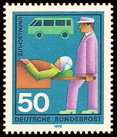 50 Pf Briefmarke: Hilfsdienste