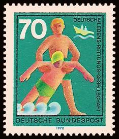 70 Pf Briefmarke: Hilfsdienste