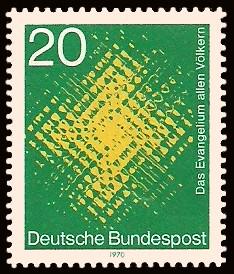 20 Pf Briefmarke: Evangelium allen Völkern