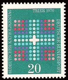 20 Pf Briefmarke: 83. Deutscher Katholikentag