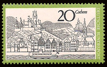 20 Pf Briefmarke: Cochem an der Mosel