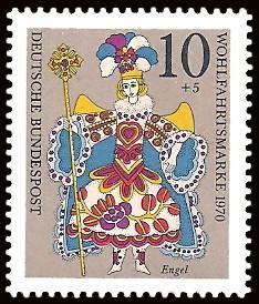 10 + 5 Pf Briefmarke: Weihnachtsmarke 1970