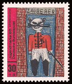 30 + 15 Pf Briefmarke: Jugendmarke 1971, Kinderzeichnungen