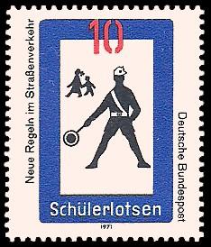 10 Pf Briefmarke: Neue Regeln im Straßenverkehr