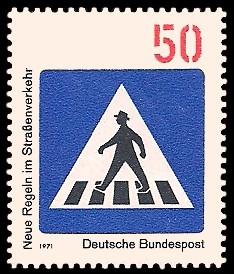 50 Pf Briefmarke: Neue Regeln im Straßenverkehr