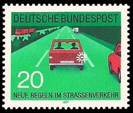 20 Pf Briefmarke: Neue Regeln im Strassenverkehr