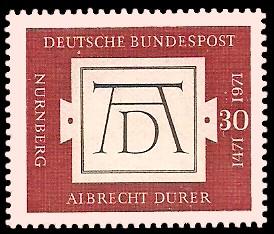 30 Pf Briefmarke: 500. Geburtstag Albrecht Dürer